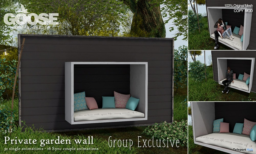 Private Garden Wall April 2019 Group Gift by GOOSE - Teleport Hub - teleporthub.com