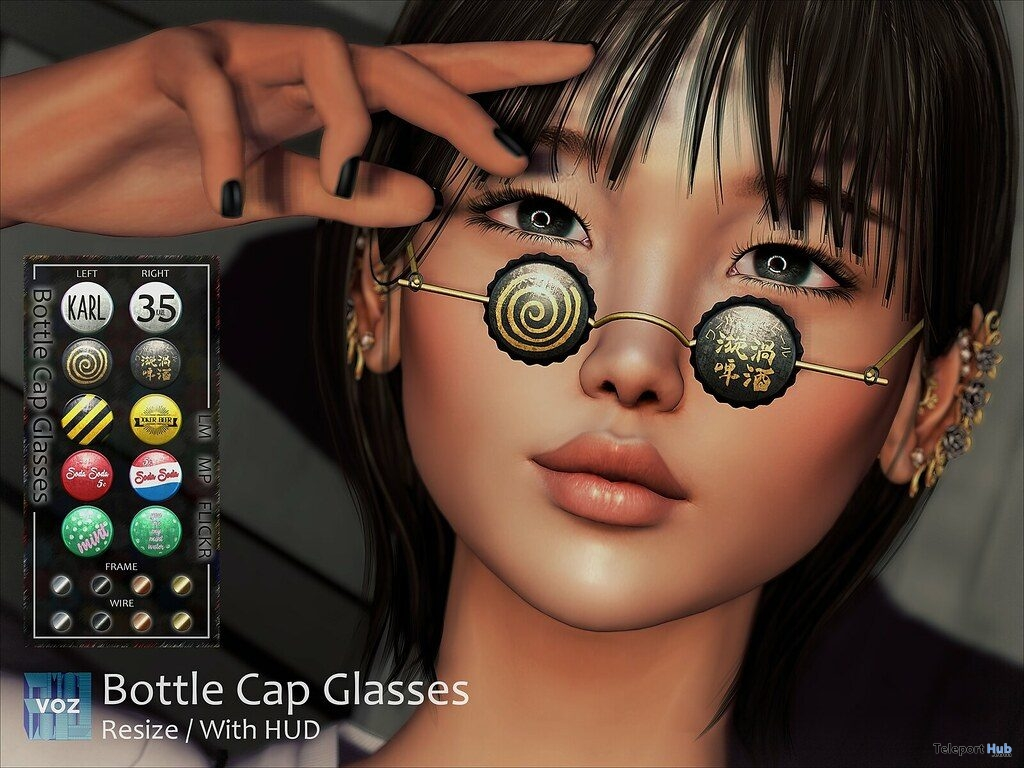 Bottle Cap Glasses Fatpack April 2019 Group Gift by VO.Z - Teleport Hub - teleporthub.com