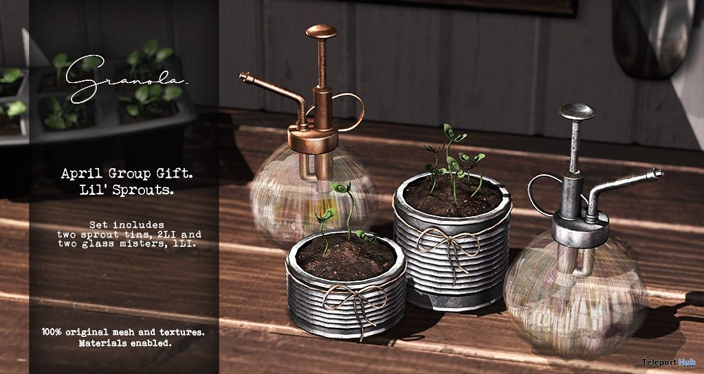 Lil Sprouts & Glass Misters April 2019 Group Gift by Granola - Teleport Hub - teleporthub.com
