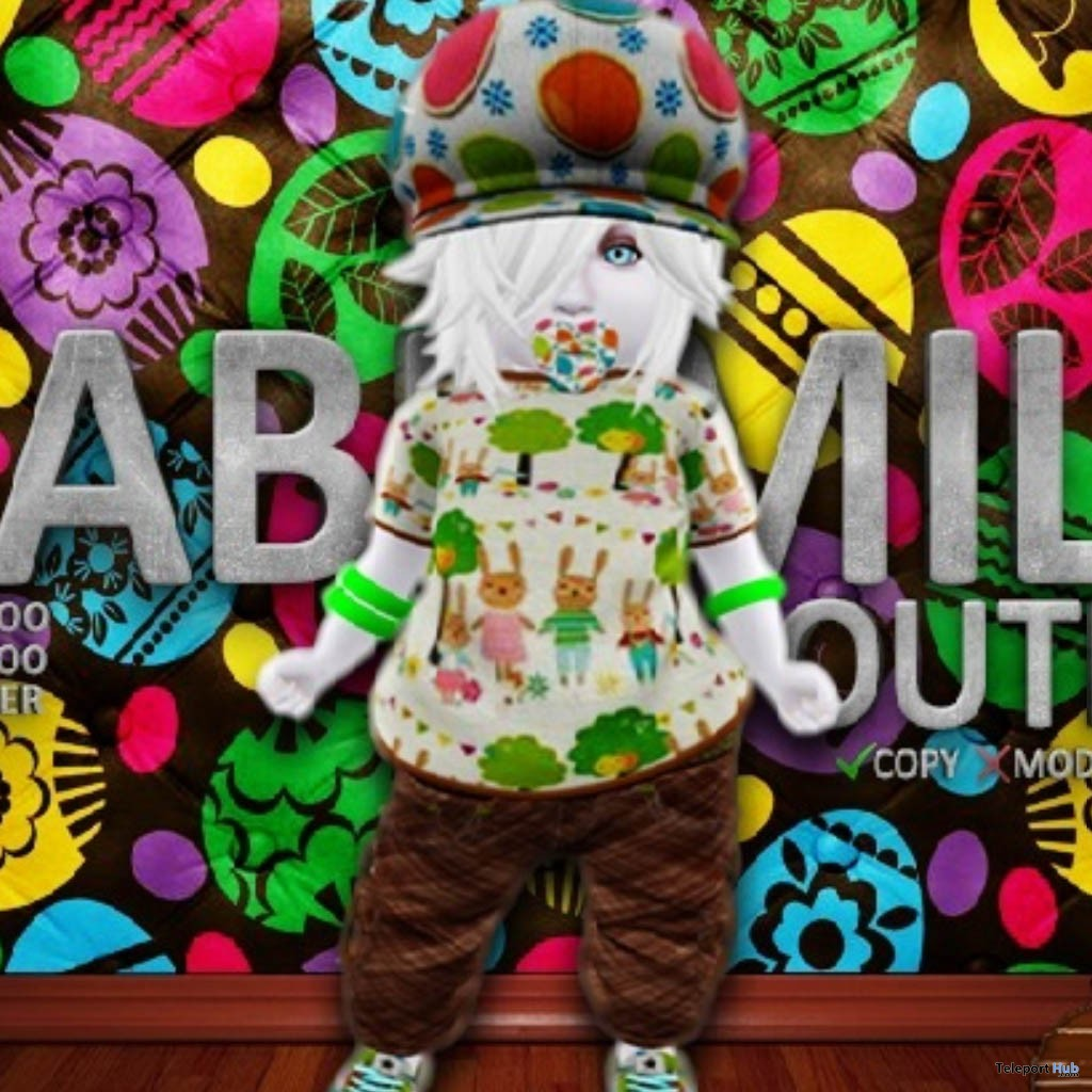 Rabbit Family Outfit April 2019 Group Gift by Brigadeiro- Teleport Hub - teleporthub.com