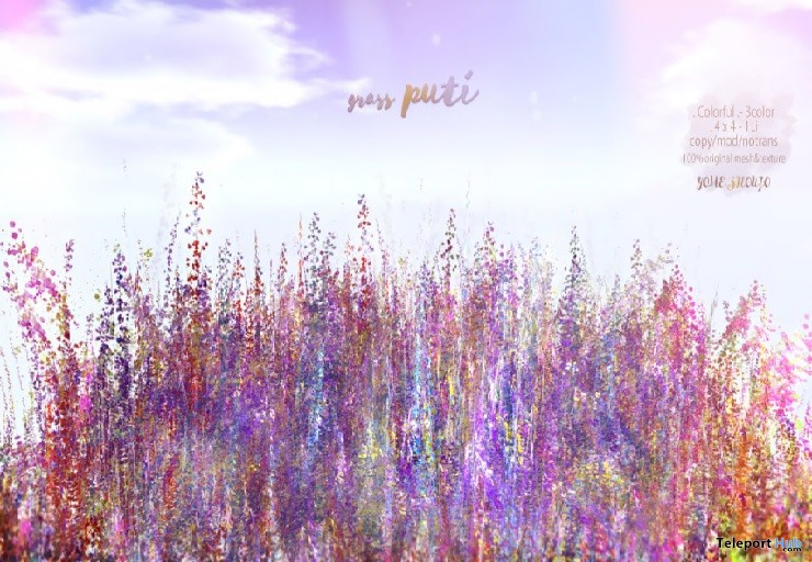 "Grass Puti Colorful April 2019 Gift by YOME SHOUJO @ FREEBIES ""F"" Store - Teleport Hub - teleporthub.com"