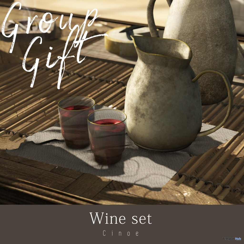 Wine Set Store Opening April 2019 Group Gift by Cinoe - Teleport Hub - teleporthub.com