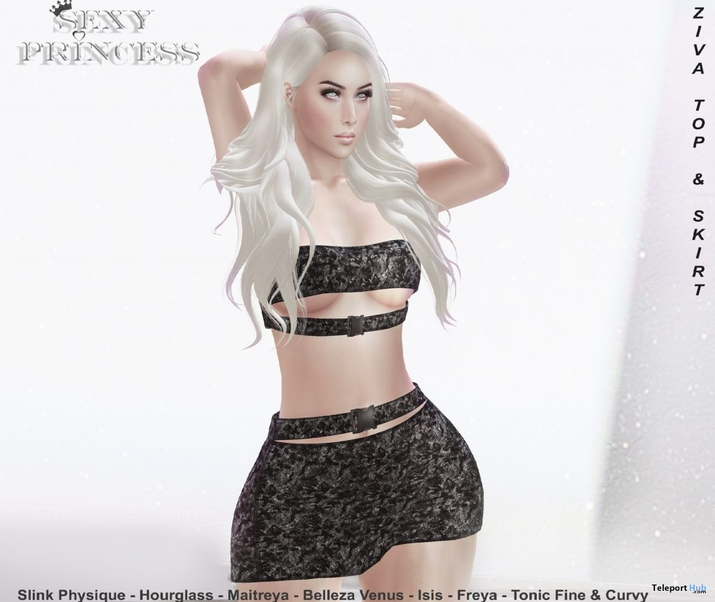 Ziva Top & Skirt Set May 2019 Group Gift by Sexy Princess - Teleport Hub - teleporthub.com