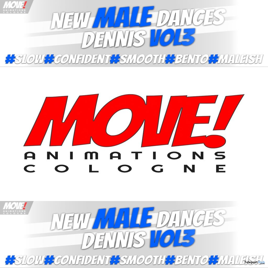 New Release: Dennis Vol 3 Bento Dance Pack by MOVE! Animations Cologne- Teleport Hub - teleporthub.com