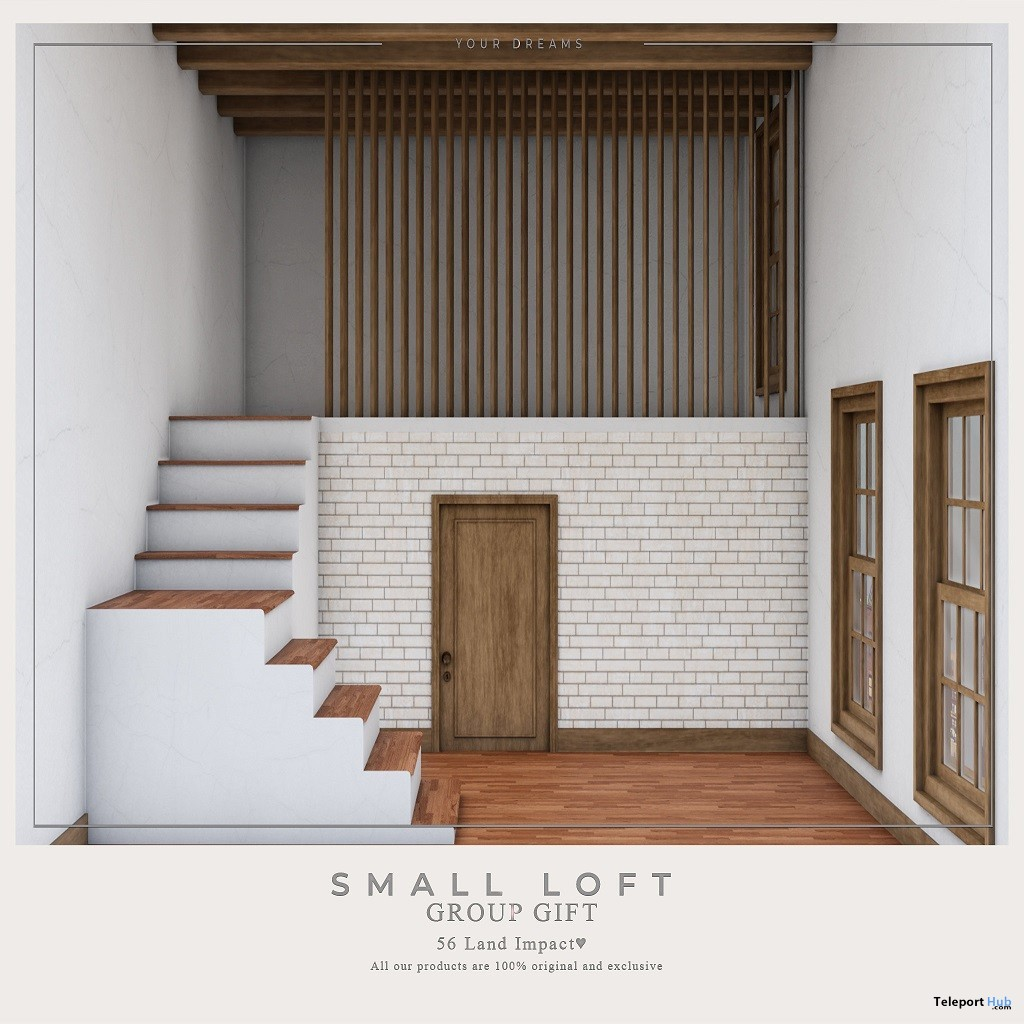 Small Loft June 2019 Group Gift by Your Dreams - Teleport Hub - teleporthub.com