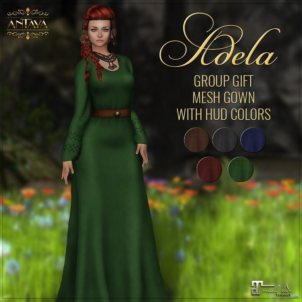 Classic Gown Fatpack June 2019 Group Gift by ANTAYA - Teleport Hub - teleporthub.com