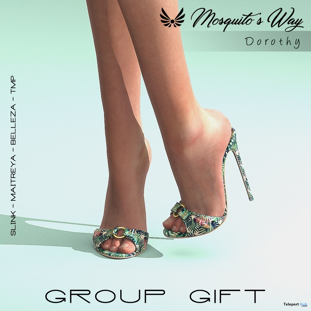 Dorothy Heels July 2019 Group Gift by Mosquito's Way- Teleport Hub - teleporthub.com
