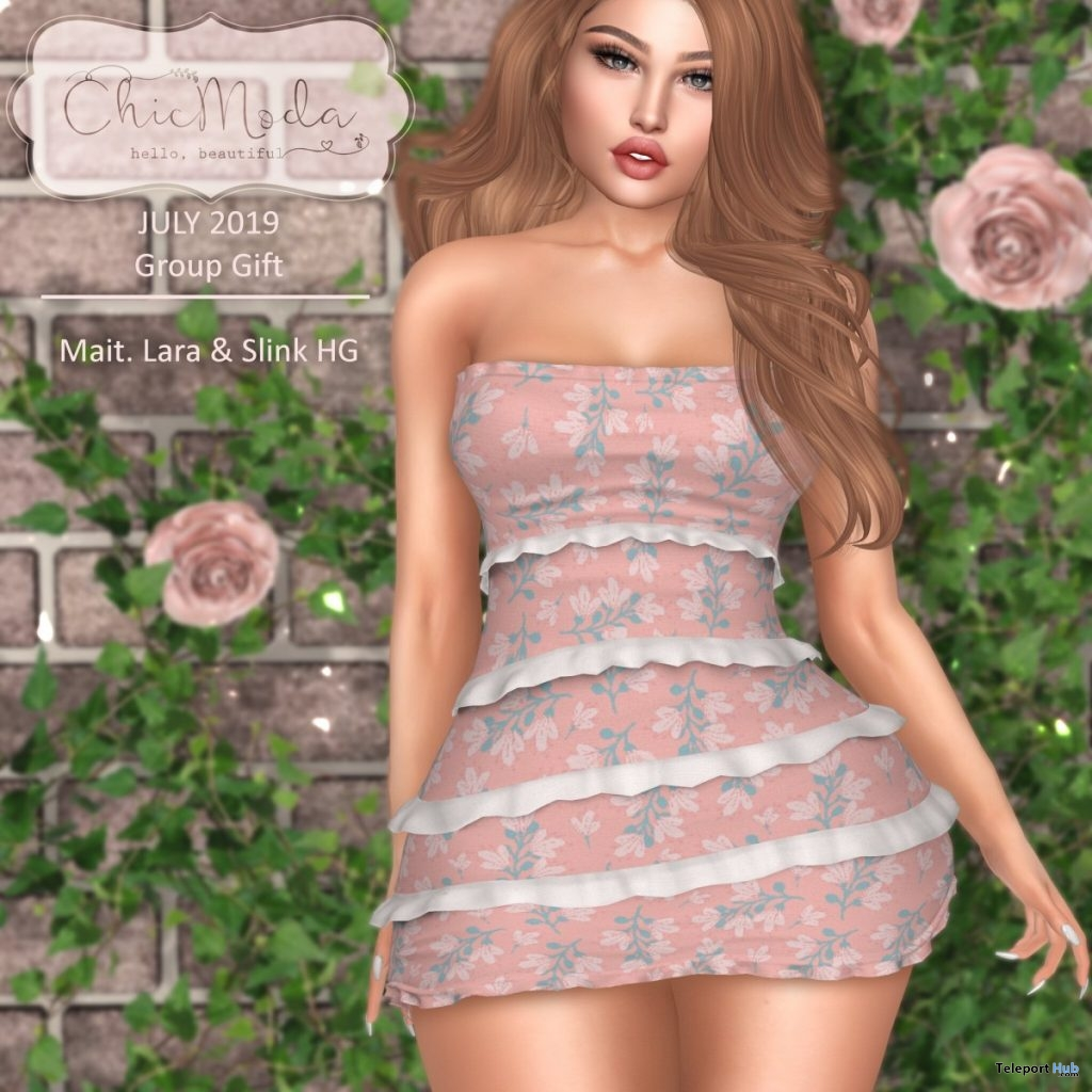 Summer Dress July 2019 Group Gift by ChicModa - Teleport Hub - teleporthub.com