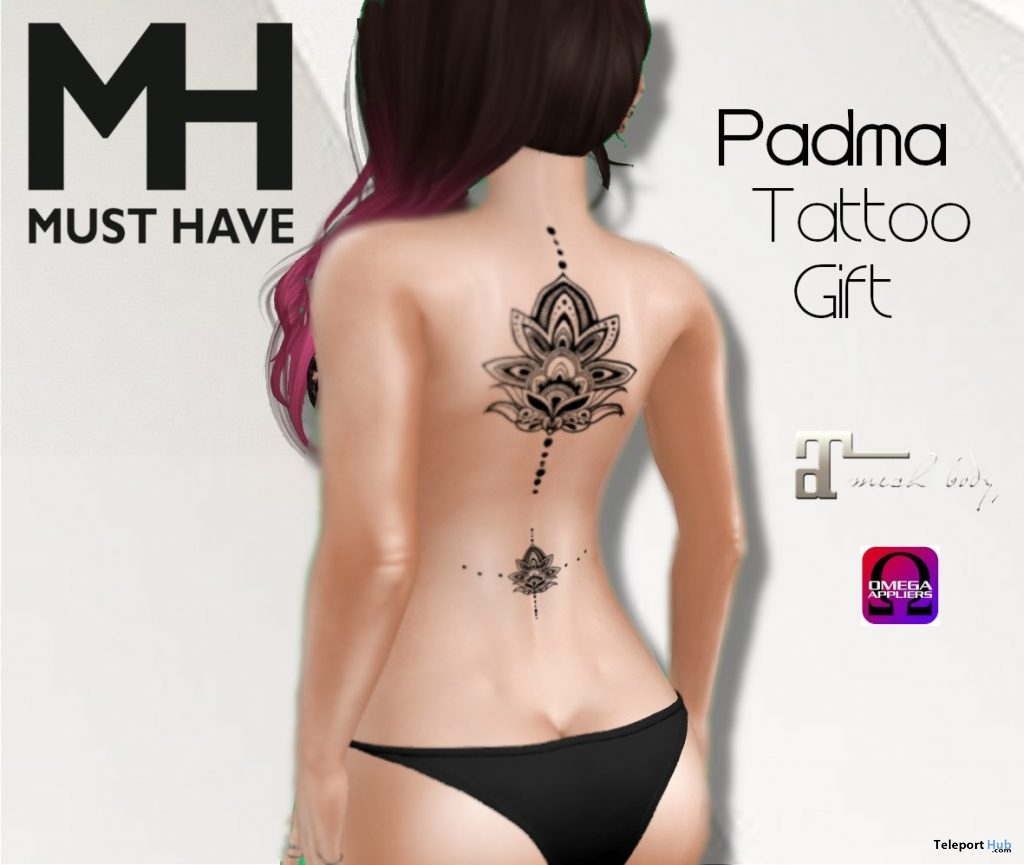 Padma Tattoo 1L Promo Gift by MUST HAVE - Teleport Hub - teleporthub.com