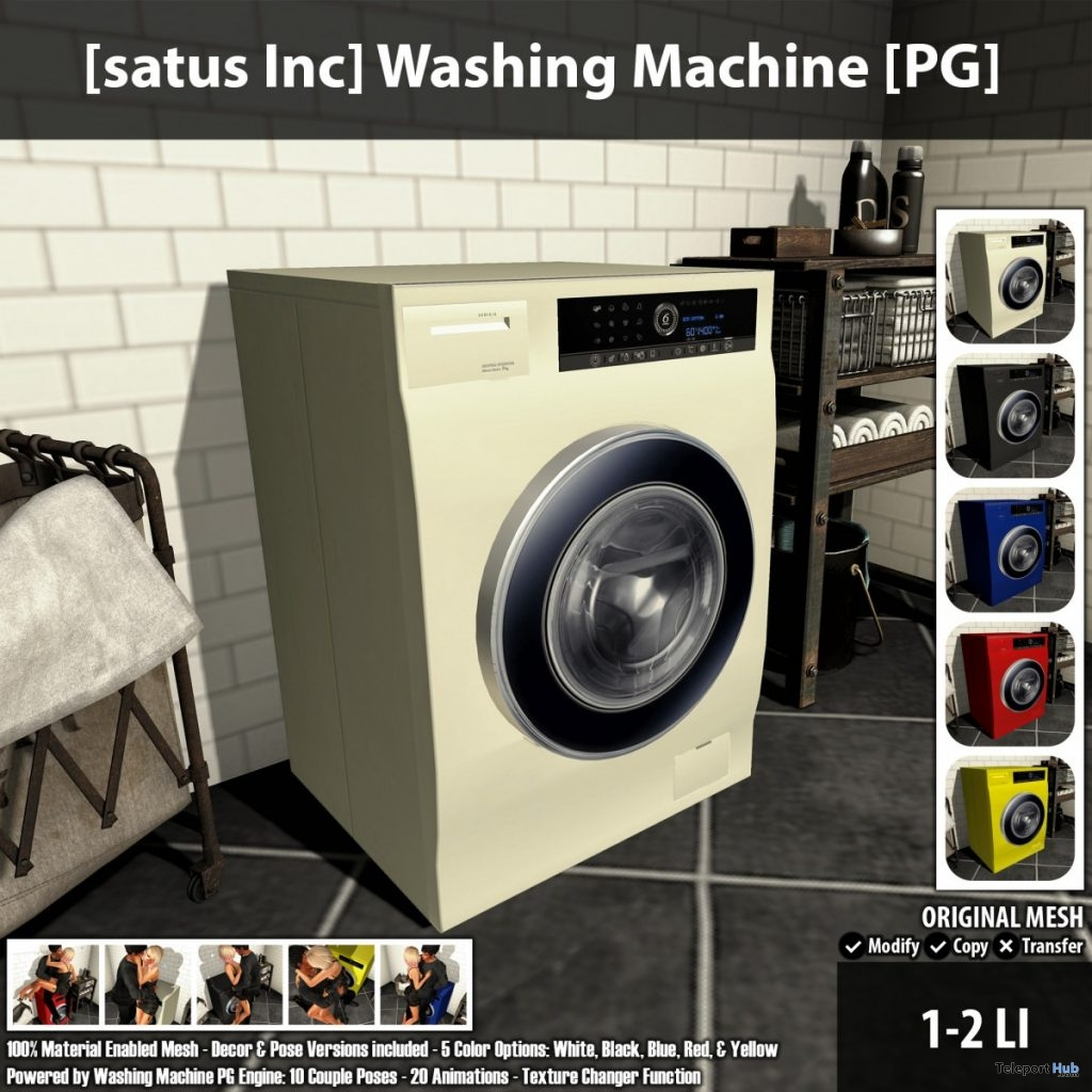 New Release: Washing Machine [PG] & [Adult] by [satus Inc] - Teleport Hub - teleporthub.com