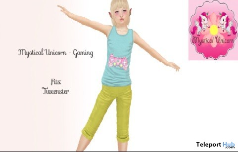 Gaming Outfit August 2019 Group Gift by Mystical Unicorn- Teleport Hub - teleporthub.com