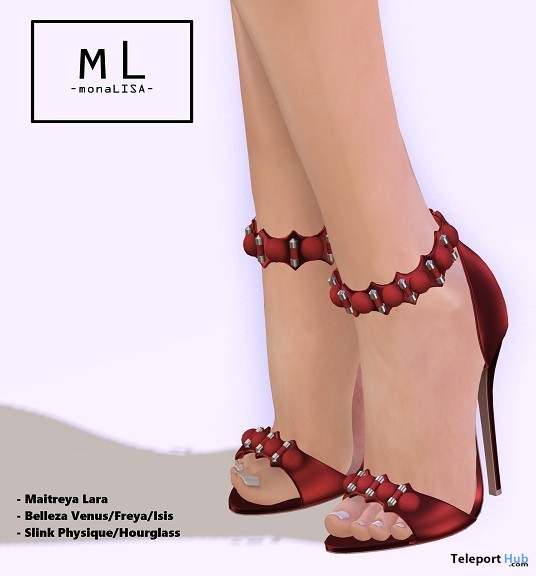 Paula Heels August 2019 Group Gift by monaLISA - Teleport Hub - teleporthub.com
