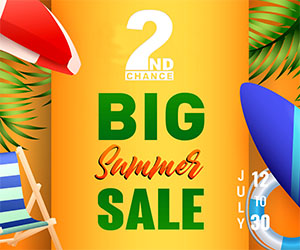 2ndChance Sale Event Ad Package A July 7 to August 6 300×250