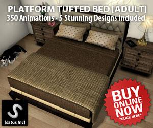 [satus Inc] Platform Tufted Bed Adult 300×250