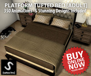 [satus Inc] Platform Tufted Bed Adult 300×250
