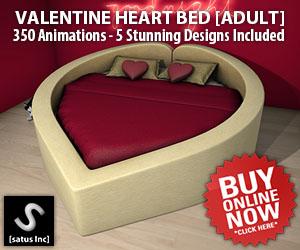 [satus Inc] Valentine Heart Shape Bed Adult 300×250