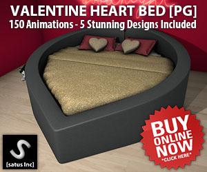 [satus Inc] Valentine Heart Shape Bed PG 300×250