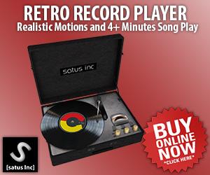 [satus Inc] Retro Record Player Ads 300×250