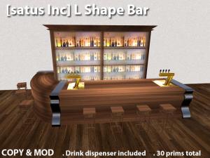 [satus Inc] L Shape Bar - teleporthub.com