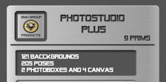 EMU Photostudio Plus (205 Poses, 121 Bgs) *SUPER PROMO* by EMU - Teleport Hub - teleporthub.com