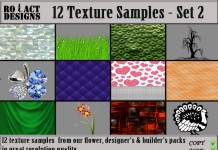 12 Texture Samples Pack Set 2 by Ro!Act Designs - Teleport Hub - Teleporthub.com