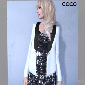 Tuxedo Jacket with Sequin Dress by Coco Designs - teleporthub.com