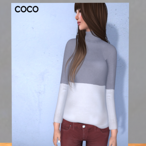 Mesh Turtleneck Sweater by Coco Designs - teleporthub.com