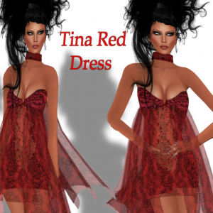 Tina Red Dress Group Gift by Mohna Lisa Couture - teleporthub.com