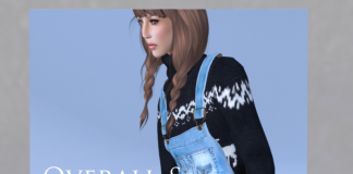 Mesh Overall and Sweater by Coco Designs - teleporthub.com