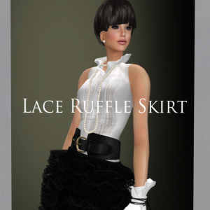 Lace Ruffle Skirt by Coco Designs - teleporthub.com