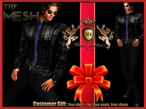 Mesh Black Shirt and Pant by Adam Edelstein Couture (Expiration Date: 31st Dec 2012) - Teleport Hub - teleporthub.com