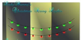 Christmas String Lights by LadyBunny - teleporthub.com