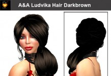 Ludvika Hair Darkbrown 70s Hairstyle By Alli&Ali Designs - Teleport Hub - teleporthub.com