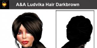 Ludvika Hair Darkbrown 70s Hairstyle By Alli&Ali Designs - Teleport Hub - teleporthub.com