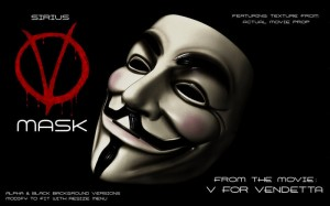 V Mask [V for Vendetta] Guy Fawkes Anonymous by Sirius Animated Textures - Teleport Hub - teleporthub.com