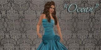 Ocean Formal Dress by Dashwood ~ Collection ~ - Teleport Hub - teleporthub.com