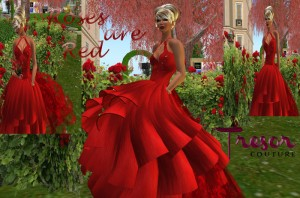 Roses are Red Gown by Tresor Couture - Teleport Hub - teleporthub.com