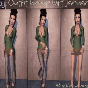 Outfit Group Gift for January '13 by [[>Cake!<]] - Teleport Hub - teleporthub.com