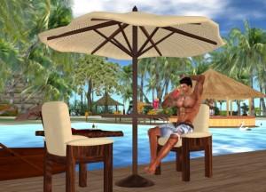 Cream patio set (20 sit poses) by boycey Inglewood - Teleport Hub - teleporthub.com