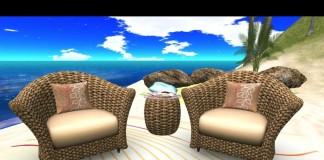 Woven Chair Set by AL'OL Homes - Teleport Hub - teleporthub.com