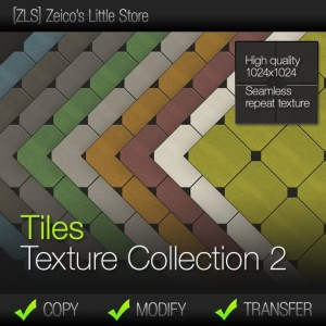 Tiles Texture Collection 2 Full Perm by [ZLS] - Teleport Hub - teleporthub.com
