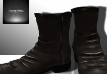 Brown Shearling Short Boot Male Group Gift by Gabriel - Teleport Hub - teleporthub.com