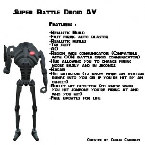 Super Battle Droid Avatar by CC Factory - Teleport Hub - teleporthub.com