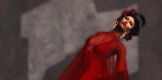Red Dress Female February Group Gift by Vero Modero - Teleport Hub - teleporthub.com