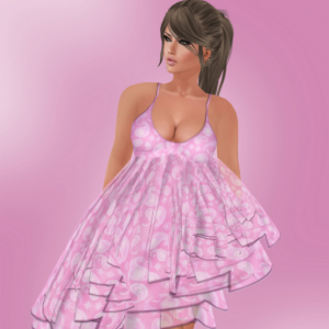 Pink Dress February Group Gift by DEW - Teleport Hub - teleporthub.com