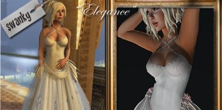Elegance White Gown by Swanky - Teleport Hub - teleporthub.com