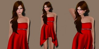Mesh Silky Valentine's Dress by voxxi - Teleport Hub - teleporthub.com