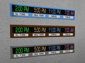 World Time Clock 4 Time Zones by Alicia Stella Design - Teleport Hub - teleporthub.com