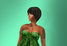 Green Dress March Group Gift By DEW Fashion - Teleport Hub - teleporthub.com