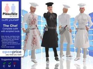 The Chef Complete Outfit for Men by Plausible Body - Teleport Hub - teleporthub.com
